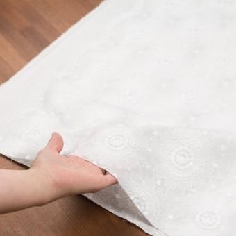 コットン×フラワー(ホワイト)×ローン刺繍_全3色 サムネイル5