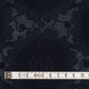 コットン×フラワー(ダークネイビー)×ローン刺繍_全3色 サムネイル4