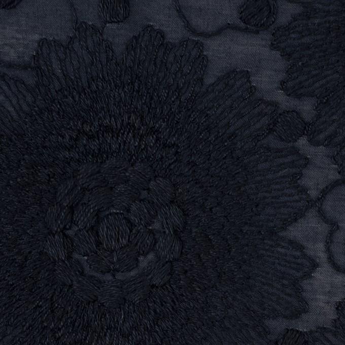 コットン×フラワー(ダークネイビー)×ローン刺繍_全3色 イメージ1