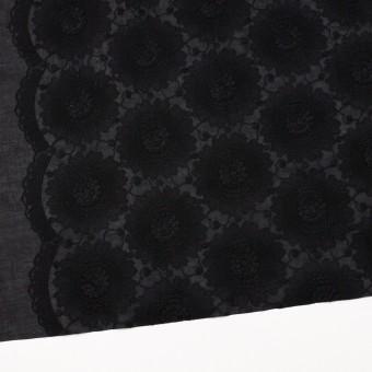 コットン×フラワー(ブラック)×ローン刺繍_全3色 サムネイル2