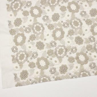 コットン×フラワー(ベージュゴールド)×ボイル刺繍 サムネイル2