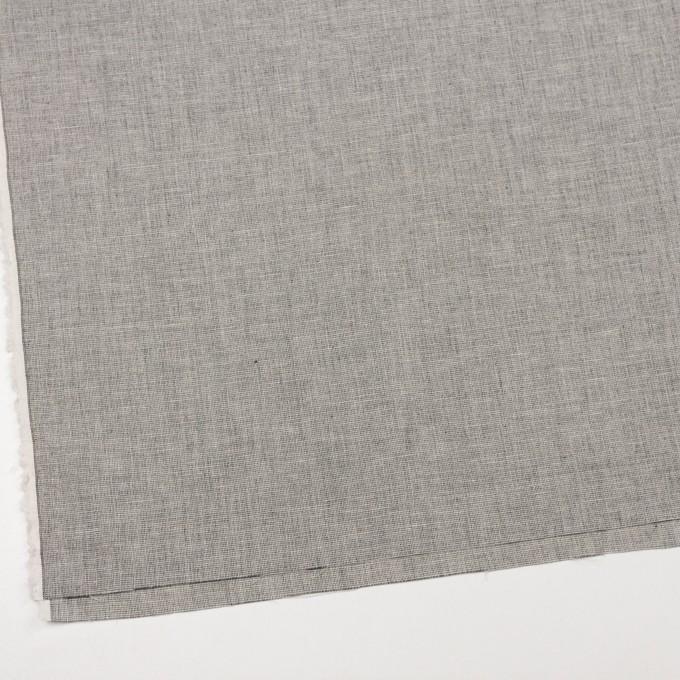 コットン×ミックス(オフホワイト&チャコール)×かわり織 イメージ2