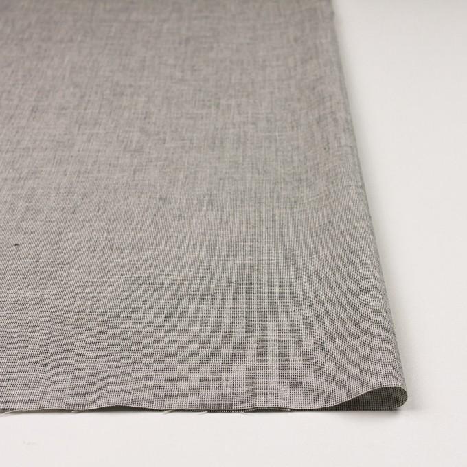 コットン×ミックス(オフホワイト&チャコール)×かわり織 イメージ3