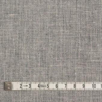 コットン×ミックス(オフホワイト&チャコール)×かわり織 サムネイル4