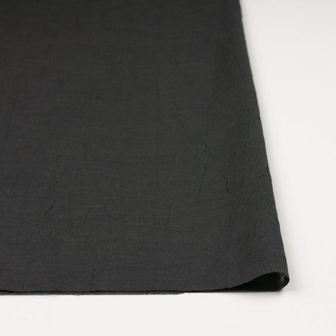コットン&リネン×無地(チャコール)×ボイルワッシャー イメージ3