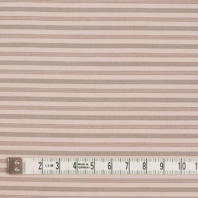 コットン&ナイロン×ボーダー(ピンクベージュ&カーキブラウン)×ブロード_イタリア製 イメージ4