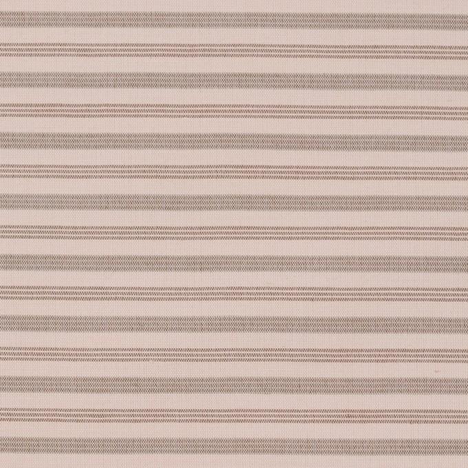コットン&ナイロン×ボーダー(ピンクベージュ&カーキブラウン)×ブロード_イタリア製 イメージ1