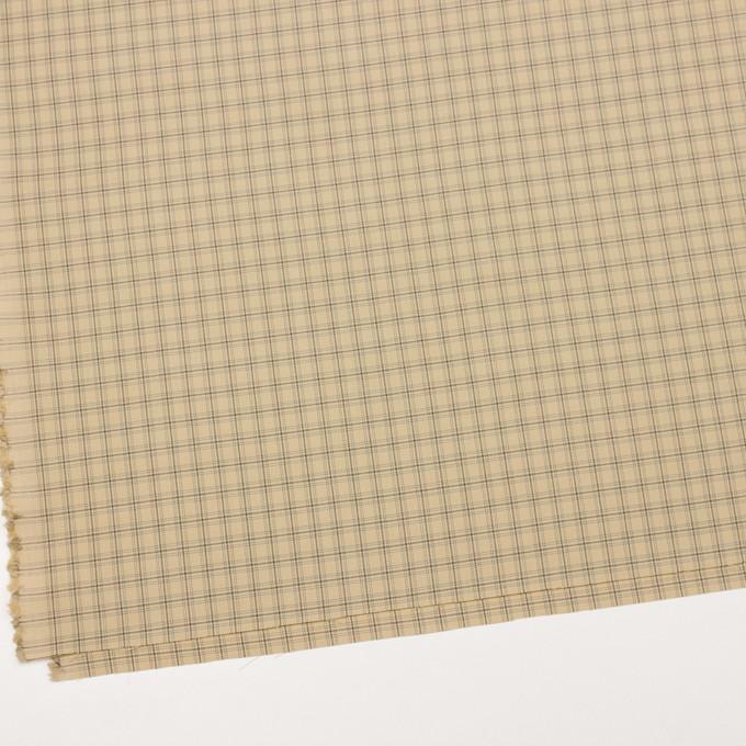 ビスコース&ウール混×チェック(カスタード、ブラウン&スレートグリーン)×ジョーゼット_イタリア製 イメージ2