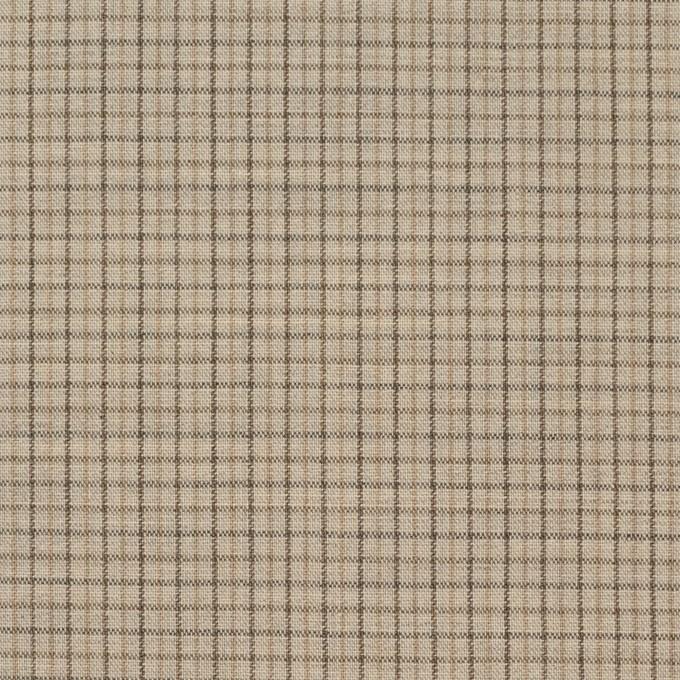 ウール×チェック(ビスケット)×ポプリン_全2色_イタリア製 イメージ1