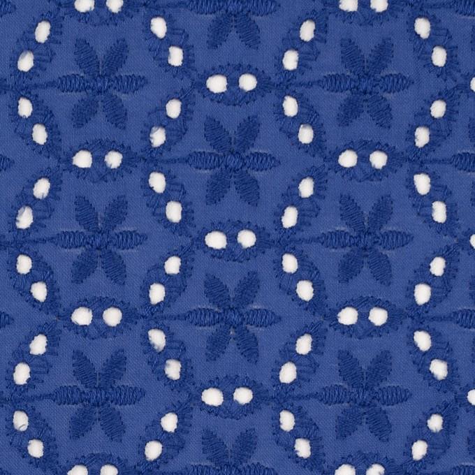 コットン×フラワー(マリンブルー)×ローン刺繍_全3色 イメージ1