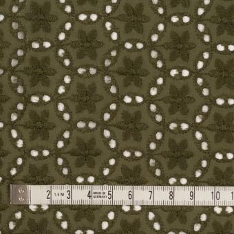 コットン×フラワー(カーキグリーン)×ローン刺繍_全3色 サムネイル4