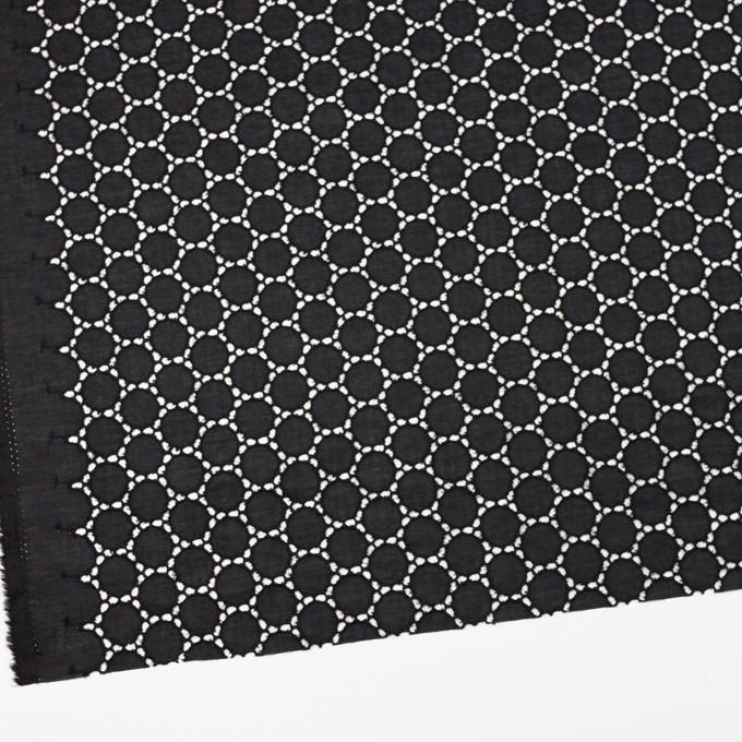 コットン×サークル(ブラック)×ローン刺繍 イメージ2