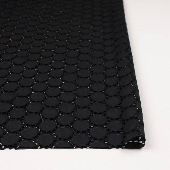コットン×サークル(ブラック)×ローン刺繍 イメージ3