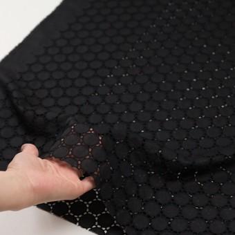 コットン×サークル(ブラック)×ローン刺繍 サムネイル5