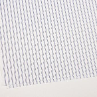 コットン×ストライプ(オフホワイト、サックス&ブラウン)×ドビーブロード サムネイル2