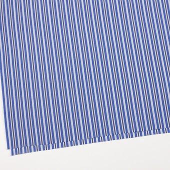 コットン×ストライプ(ブルー&ネイビー)×ブロード サムネイル2