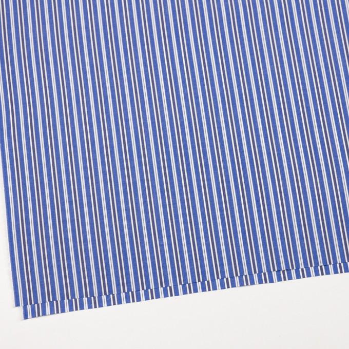 コットン×ストライプ(ブルー&ネイビー)×ブロード イメージ2