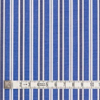 コットン×ストライプ(ブルー&ネイビー)×ブロード サムネイル4