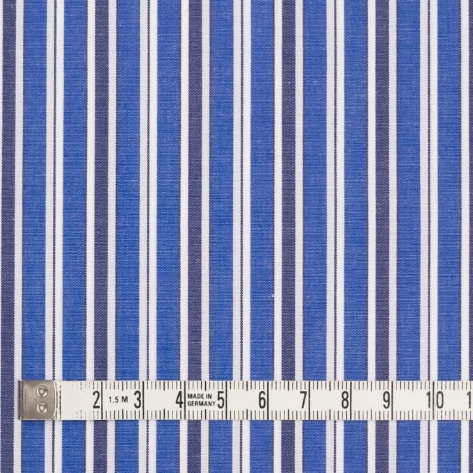 コットン×ストライプ(ブルー&ネイビー)×ブロード イメージ4