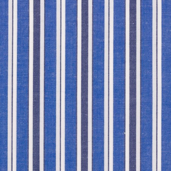コットン×ストライプ(ブルー&ネイビー)×ブロード イメージ1