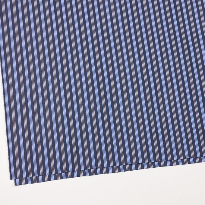 コットン×ストライプ(スチールグレー、サックス&ブラウン)×ブロード イメージ2