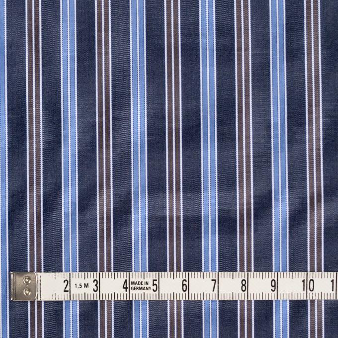 コットン×ストライプ(スチールグレー、サックス&ブラウン)×ブロード イメージ4