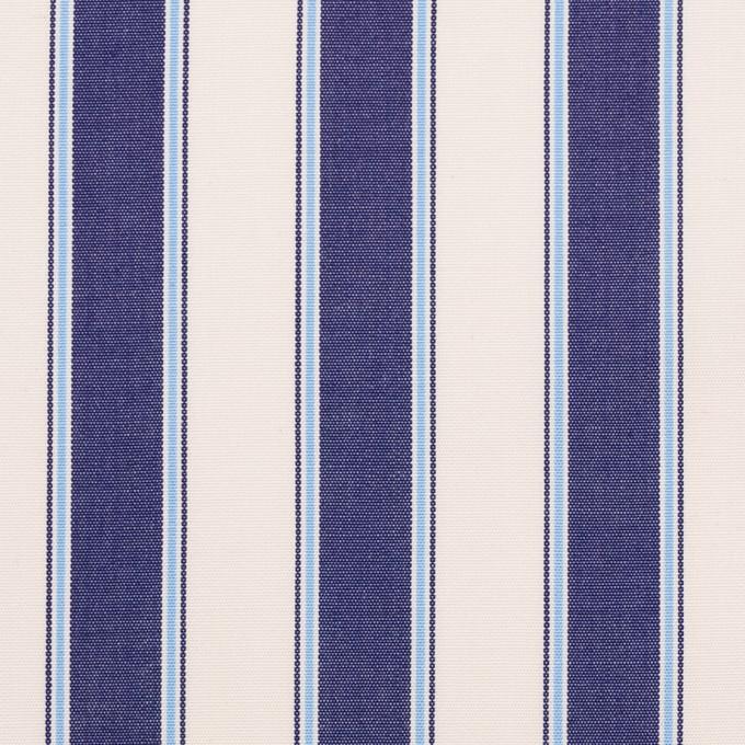 コットン×ストライプ(プルシアンブルー)×ブロード_全2色 イメージ1