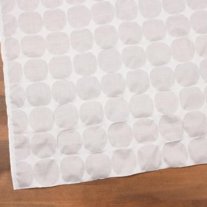 コットン×サークル(オフホワイト)×ローン_塩縮加工_全3色 イメージ2