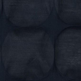 コットン×サークル(ダークネイビー)×ローン_塩縮加工_全3色 サムネイル1