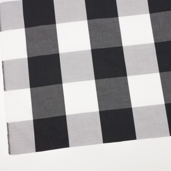コットン×チェック(グレー&ブラック)×ブロード サムネイル2