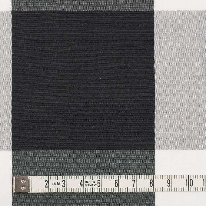 コットン×チェック(グレー&ブラック)×ブロード イメージ3