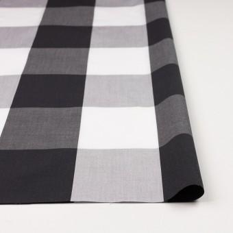 コットン×チェック(グレー&ブラック)×ブロード サムネイル4