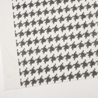 コットン×千鳥格子(オフホワイト&ブラック)×チュール_全3色 サムネイル2