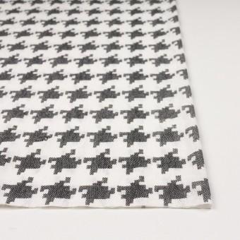 コットン×千鳥格子(オフホワイト&ブラック)×チュール_全3色 サムネイル3