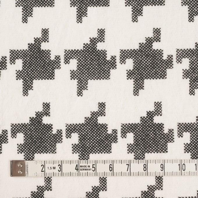 コットン×千鳥格子(オフホワイト&ブラック)×チュール_全3色 イメージ4