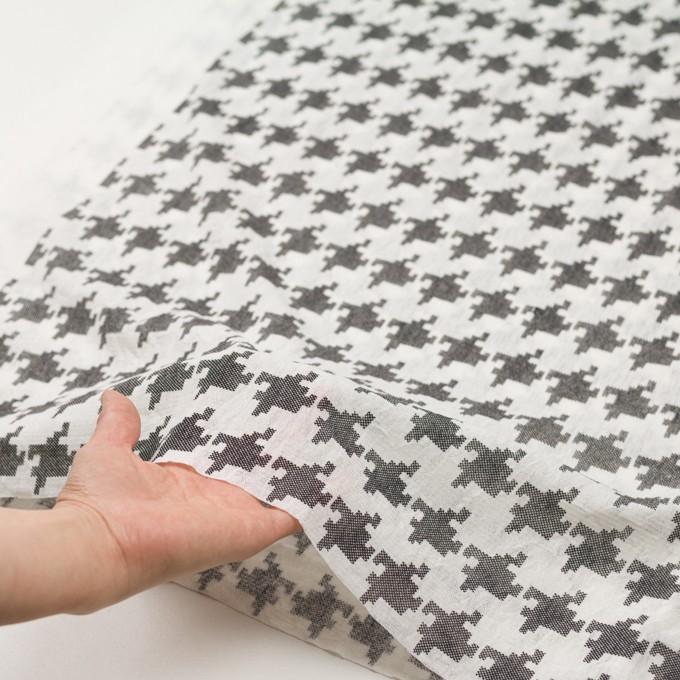 コットン×千鳥格子(オフホワイト&ブラック)×チュール_全3色 イメージ5