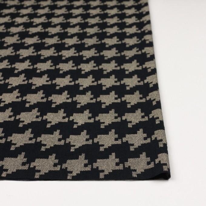 コットン×千鳥格子(ブラック&ライトカーキ)×チュール_全3色 イメージ3