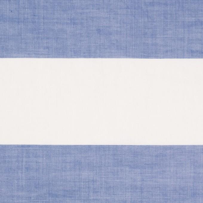 コットン×ボーダー(サックス)×ローンワッシャー_イタリア製 イメージ1