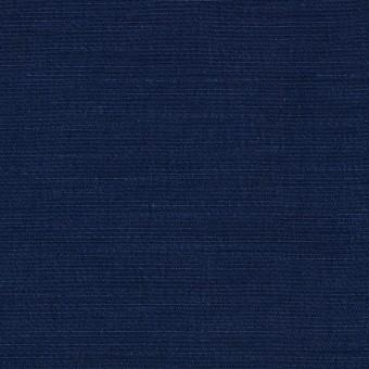 キュプラ&コットン混×無地(ネイビー)×シャンタン_全2色_イタリア製