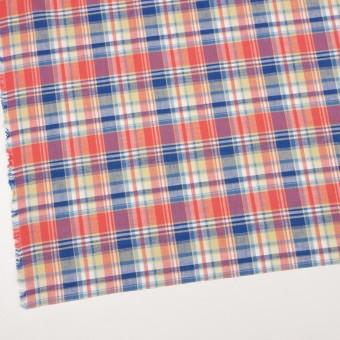 コットン×チェック(スカーレット、シトロン&ブルー)×薄シーチング サムネイル2