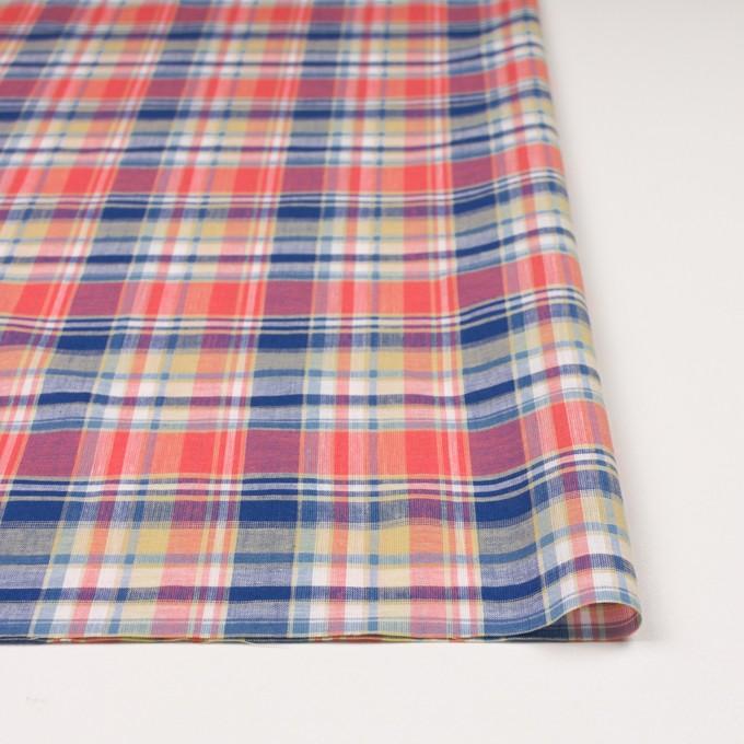 コットン×チェック(スカーレット、シトロン&ブルー)×薄シーチング イメージ3