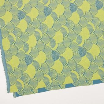レーヨン&アセテート×幾何学模様(レモンイエロー&ブルーグレー)×風通織_全3色 サムネイル2
