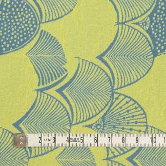 レーヨン&アセテート×幾何学模様(レモンイエロー&ブルーグレー)×風通織_全3色 サムネイル4