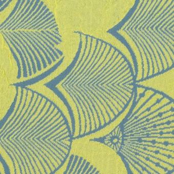 レーヨン&アセテート×幾何学模様(レモンイエロー&ブルーグレー)×風通織_全3色 サムネイル1