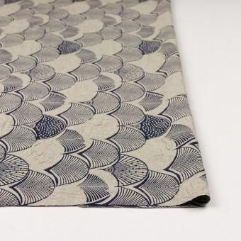 レーヨン&アセテート×幾何学模様(グレイッシュベージュ&ネイビー)×風通織_全3色 サムネイル3