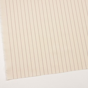 コットン×ストライプ(キナリ、レッド&ブラック)×ポプリン_イタリア製 サムネイル2