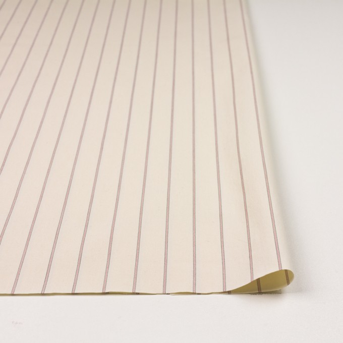 コットン×ストライプ(キナリ、レッド&ブラック)×ポプリン_イタリア製 イメージ3