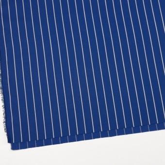 コットン×ストライプ(マリンブルー)×かわり織 サムネイル2