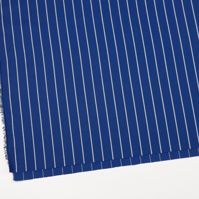 コットン×ストライプ(マリンブルー)×かわり織 イメージ2