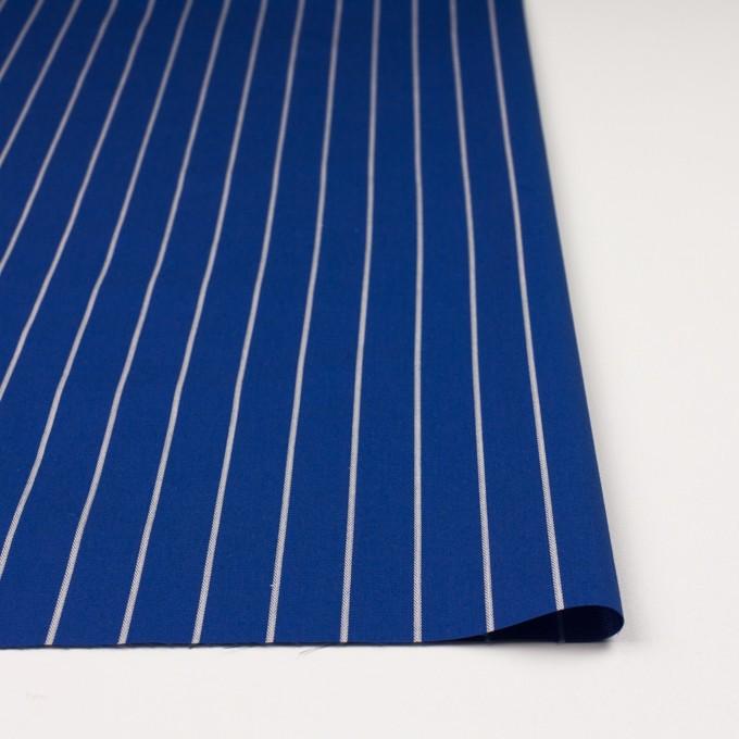 コットン×ストライプ(マリンブルー)×かわり織 イメージ3